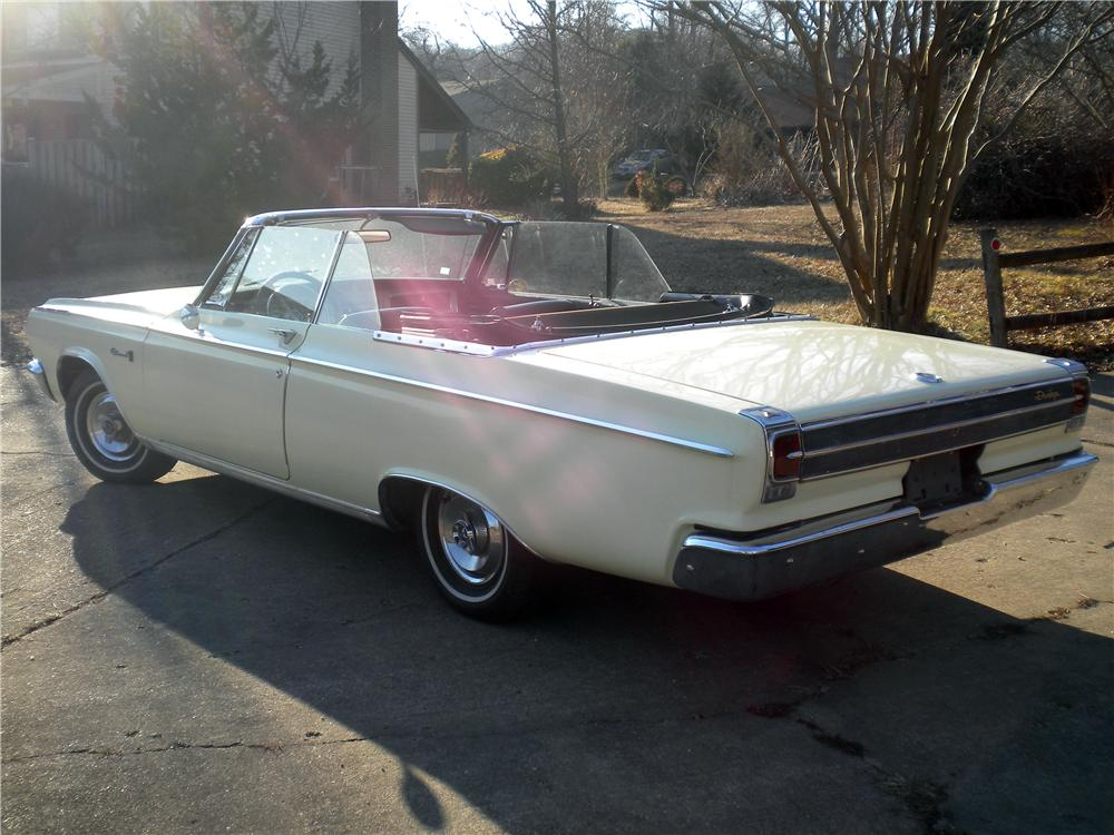 1965 DODGE CORONET 500 CONVERTIBLE - Rear 3/4 - 170213