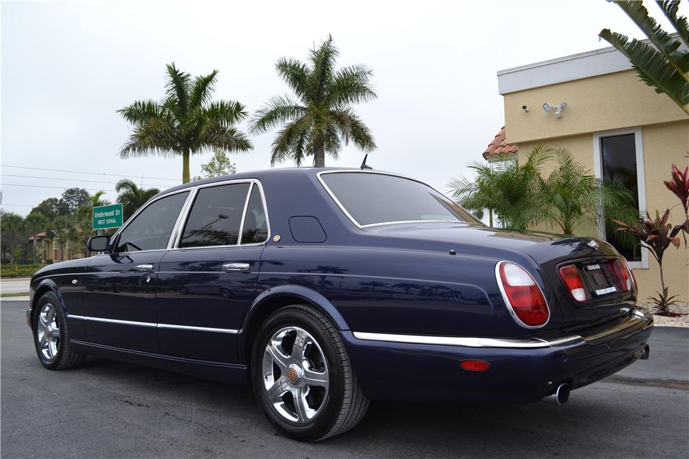 2003 BENTLEY ARNAGE 4 DOOR SEDAN - Rear 3/4 - 170216