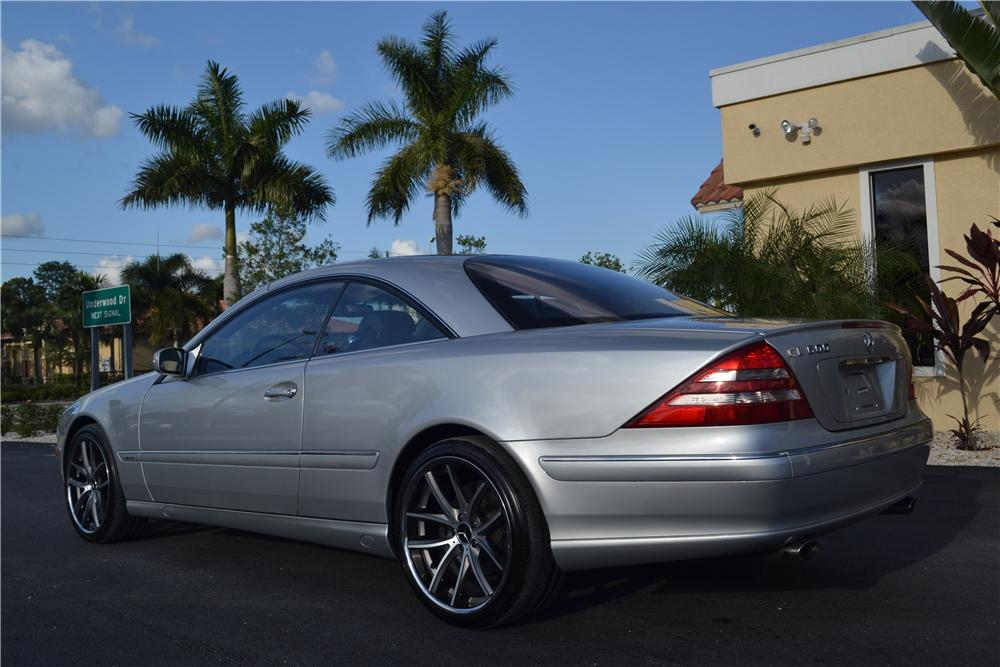 2001 MERCEDES-BENZ CL600 2 DOOR COUPE - Rear 3/4 - 170218