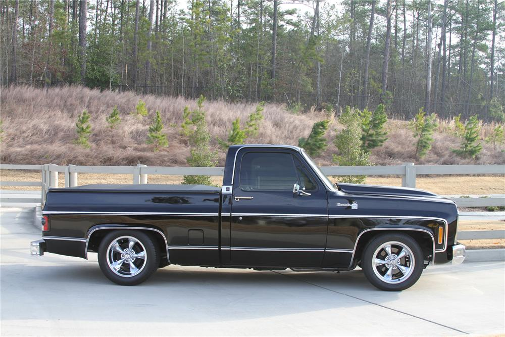 1979 CHEVROLET C-10 CUSTOM PICKUP - Side Profile - 170226