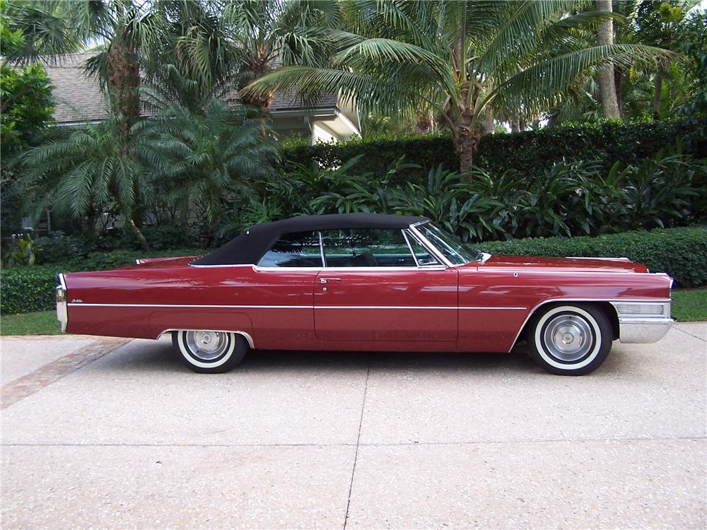 1965 CADILLAC DE VILLE CONVERTIBLE - Side Profile - 170230