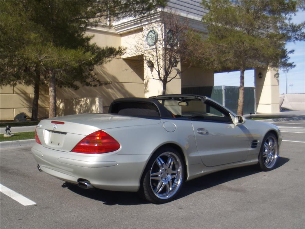 2003 MERCEDES-BENZ SL500 CONVERTIBLE - Rear 3/4 - 170241