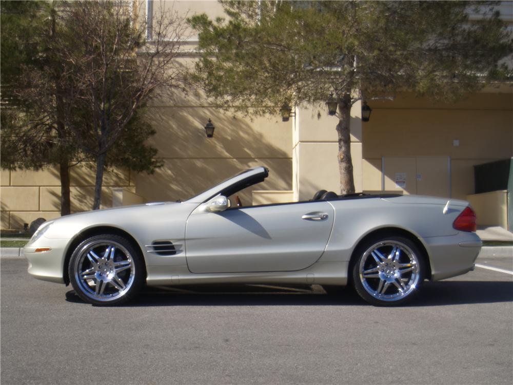 2003 MERCEDES-BENZ SL500 CONVERTIBLE - Side Profile - 170241