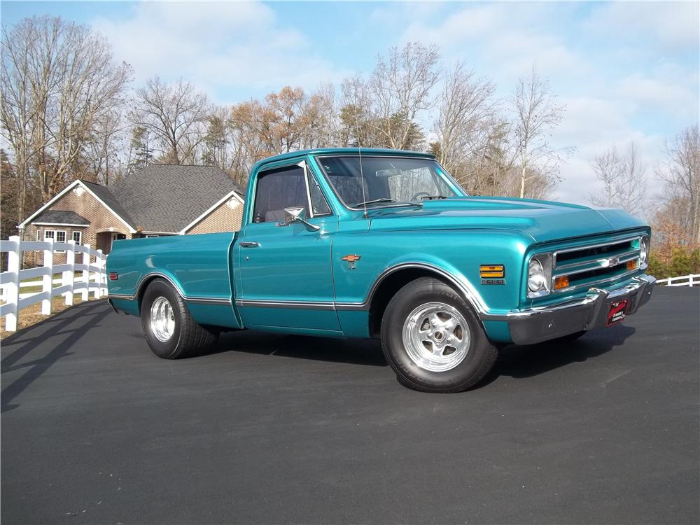 1968 CHEVROLET C-10 CUSTOM PICKUP - Front 3/4 - 170242