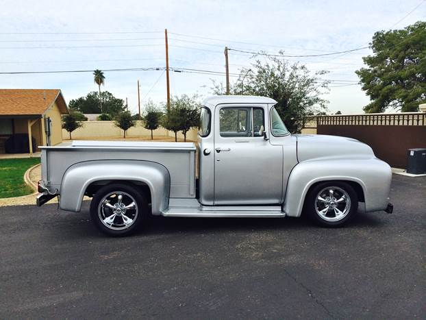 1956 FORD F-100 CUSTOM PICKUP - Front 3/4 - 170249