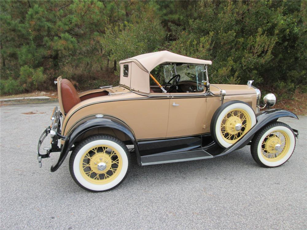 1930 FORD MODEL A ROADSTER - Side Profile - 170253