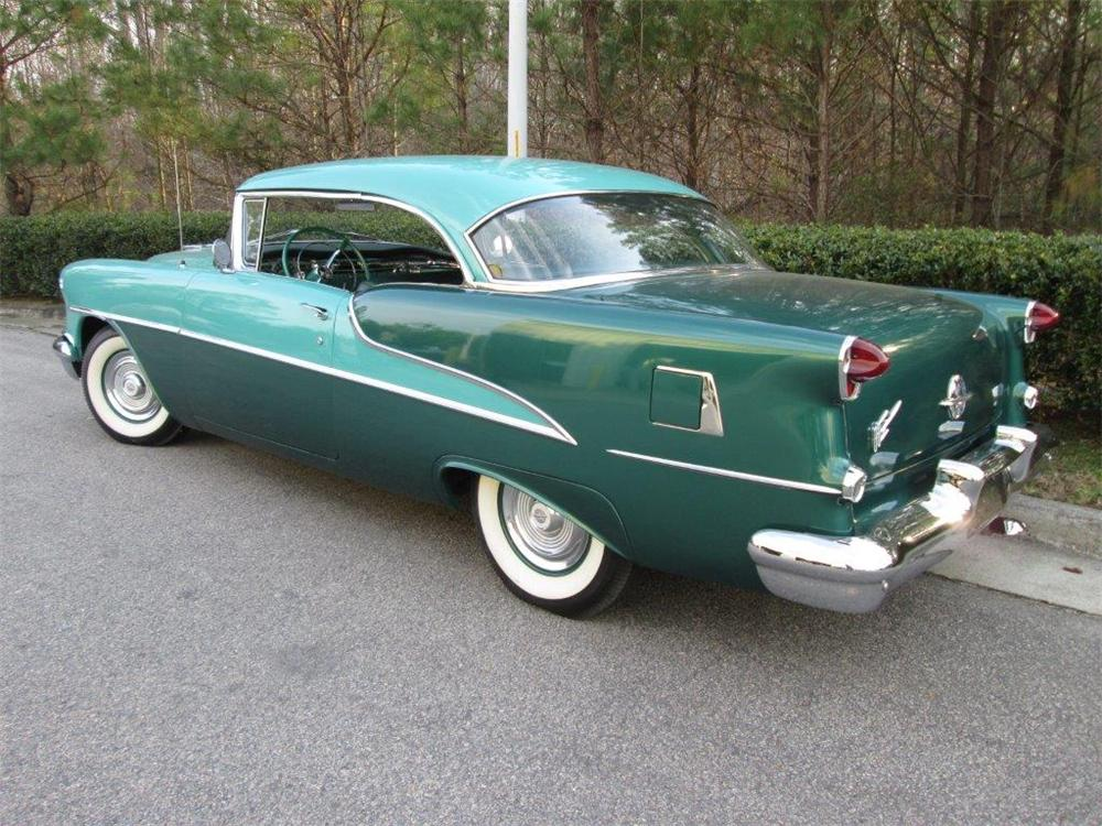 1955 OLDSMOBILE DELTA 88 2 DOOR COUPE - Rear 3/4 - 170257