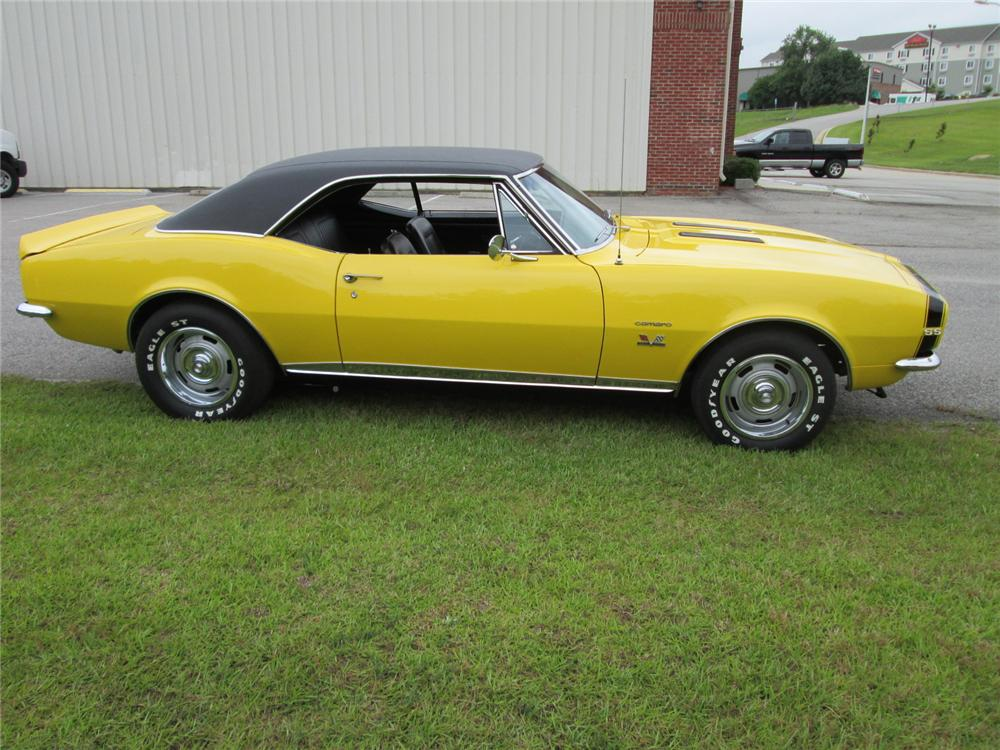 1967 CHEVROLET CAMARO RS/SS 2 DOOR COUPE - Side Profile - 170261