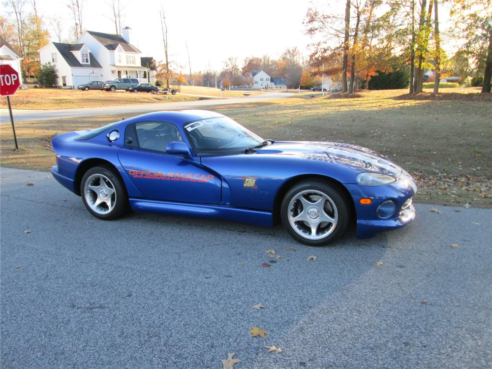 1996 DODGE VIPER GTS 2 DOOR COUPE - Side Profile - 170262