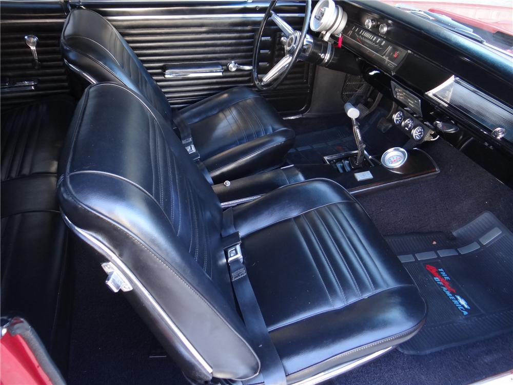 1967 CHEVROLET CHEVELLE SS CUSTOM 2 DOOR COUPE - Interior - 170268