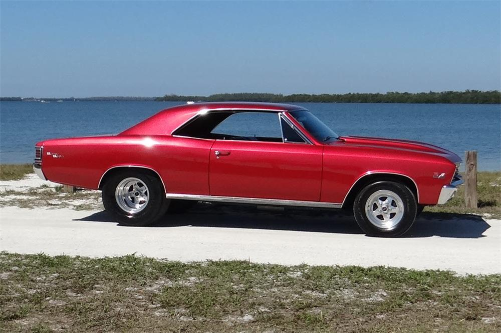 1967 CHEVROLET CHEVELLE SS CUSTOM 2 DOOR COUPE - Side Profile - 170268