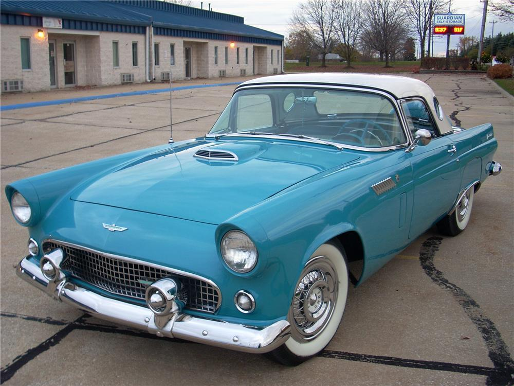 1956 FORD THUNDERBIRD CONVERTIBLE - Front 3/4 - 170272