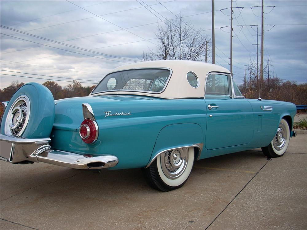 1956 FORD THUNDERBIRD CONVERTIBLE - Rear 3/4 - 170272