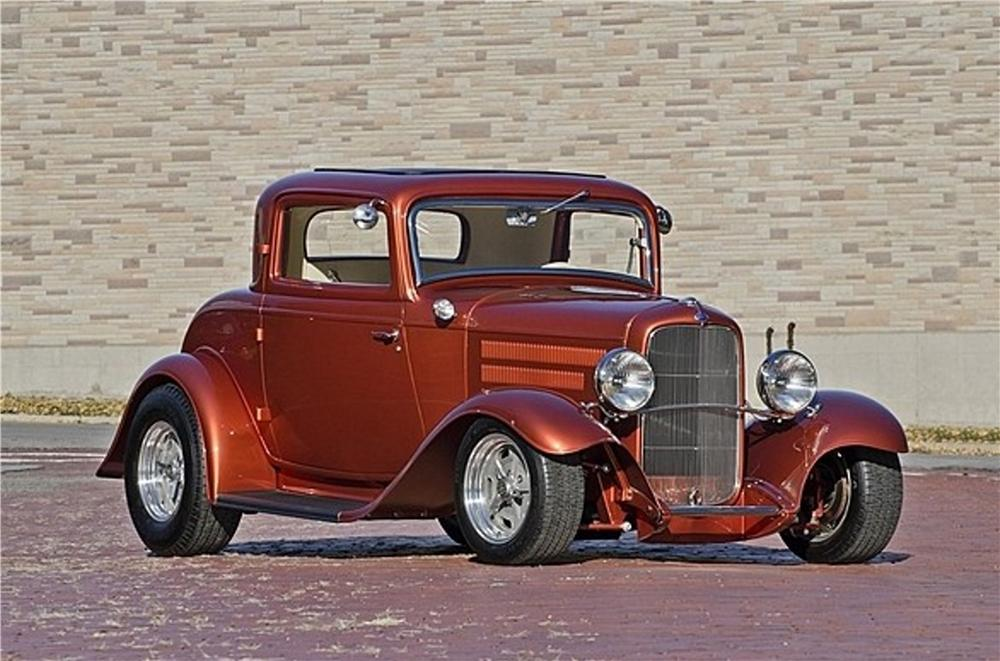 1932 FORD 3 WINDOW CUSTOM COUPE - Front 3/4 - 170274