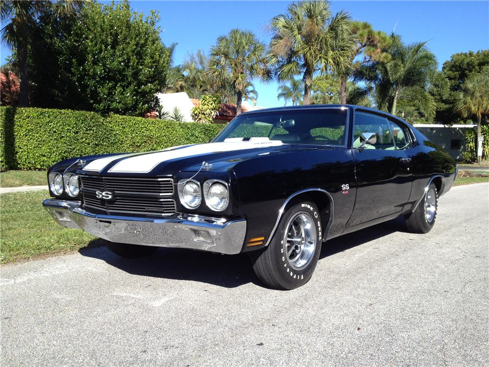 1970 CHEVROLET CHEVELLE 2 DOOR COUPE - Front 3/4 - 170276