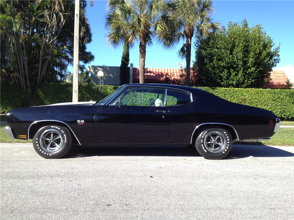 1970 CHEVROLET CHEVELLE 2 DOOR COUPE - Side Profile - 170276