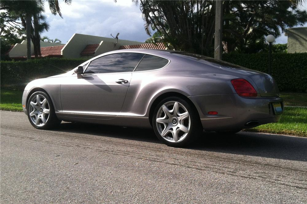 2005 bentley continental gt 2 door coupe rear 3 4 170277. Cars Review. Best American Auto & Cars Review