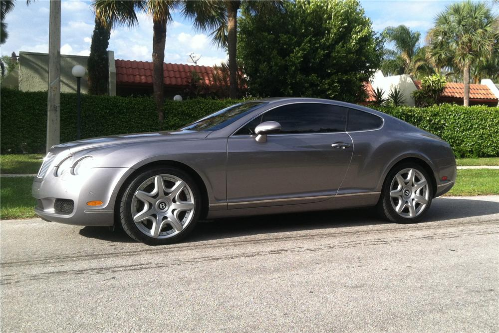 2005 bentley continental gt 2 door coupe side profile 170277. Cars Review. Best American Auto & Cars Review