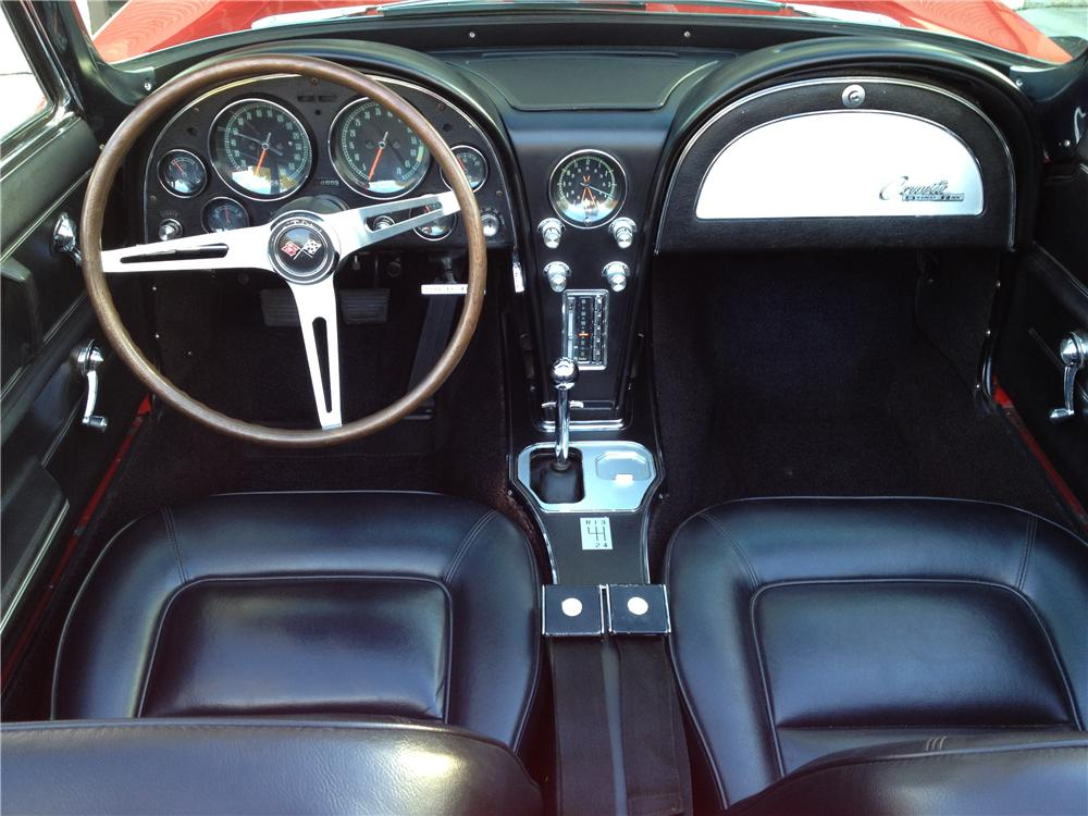 1965 CHEVROLET CORVETTE CONVERTIBLE - Interior - 170278