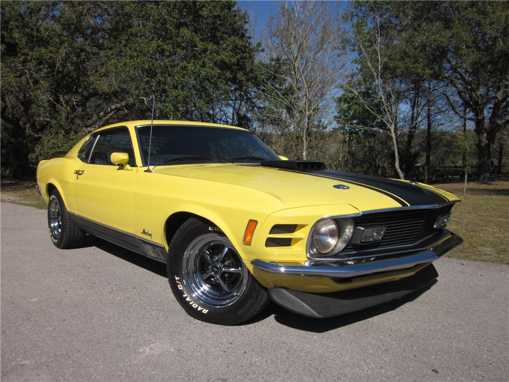 1970 FORD MUSTANG MACH 1 FASTBACK - Front 3/4 - 170288
