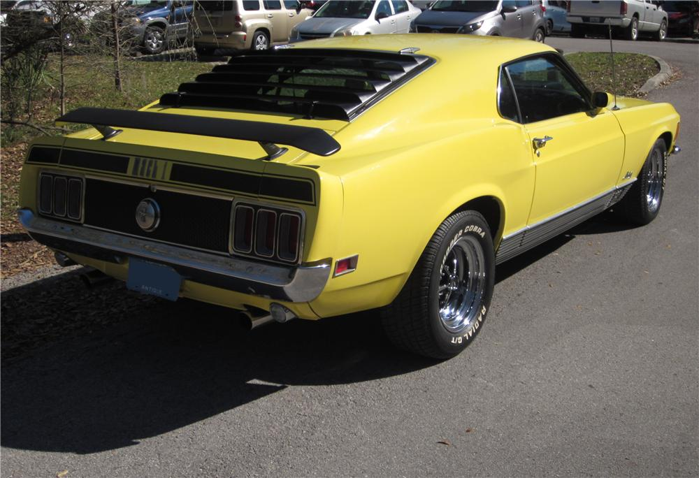 1970 FORD MUSTANG MACH 1 FASTBACK - Rear 3/4 - 170288
