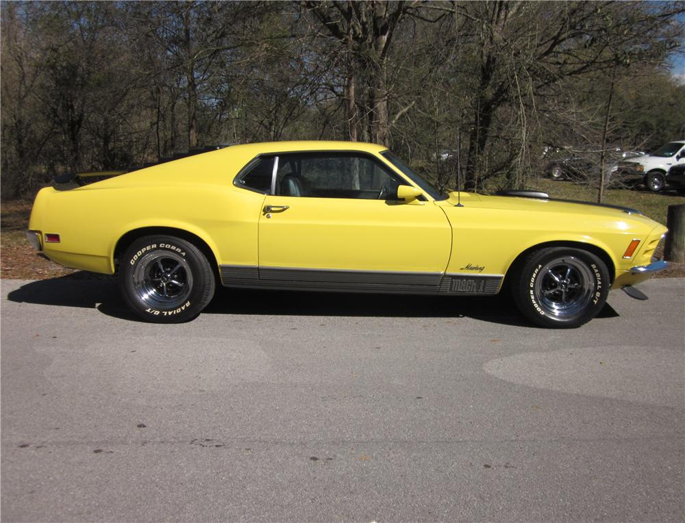 1970 FORD MUSTANG MACH 1 FASTBACK - Side Profile - 170288