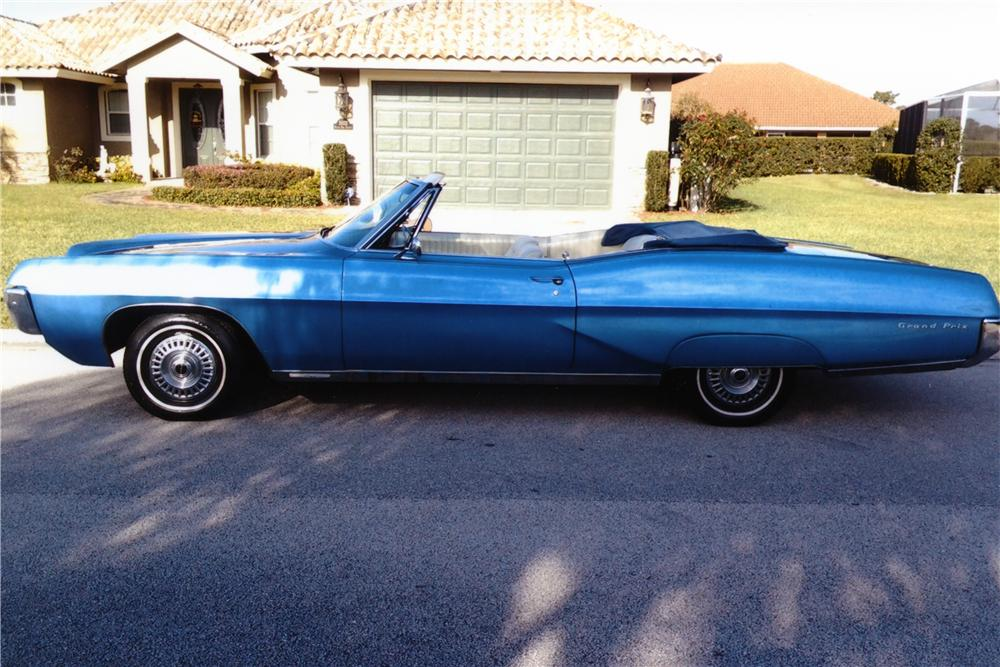 1967 PONTIAC GRAND PRIX CONVERTIBLE - Side Profile - 170291