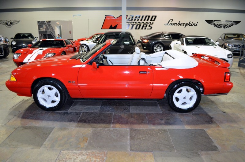 1992 FORD MUSTANG CONVERTIBLE - Side Profile - 170304