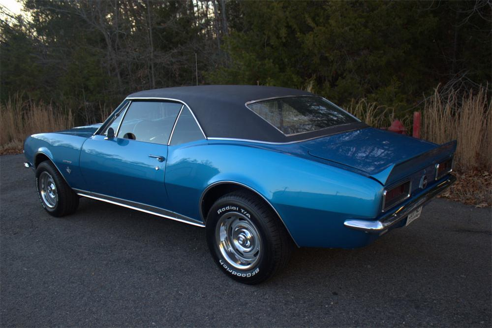 1967 CHEVROLET CAMARO RS/SS 2 DOOR COUPE - Rear 3/4 - 170308