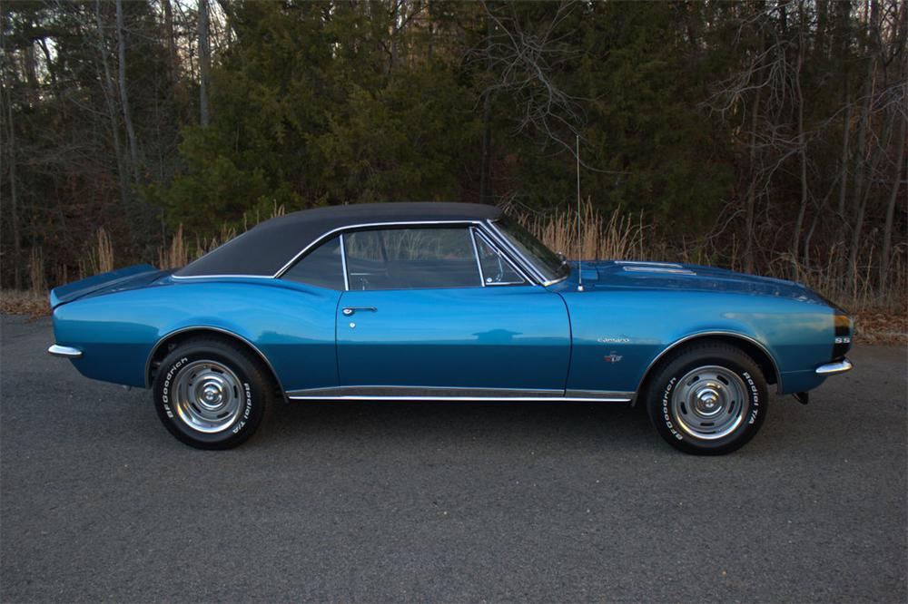 1967 CHEVROLET CAMARO RS/SS 2 DOOR COUPE - Side Profile - 170308