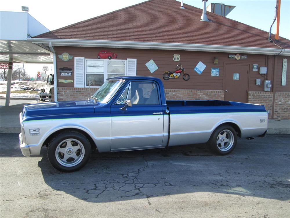 1971 CHEVROLET CHEYENNE CUSTOM PICKUP - Side Profile - 170315