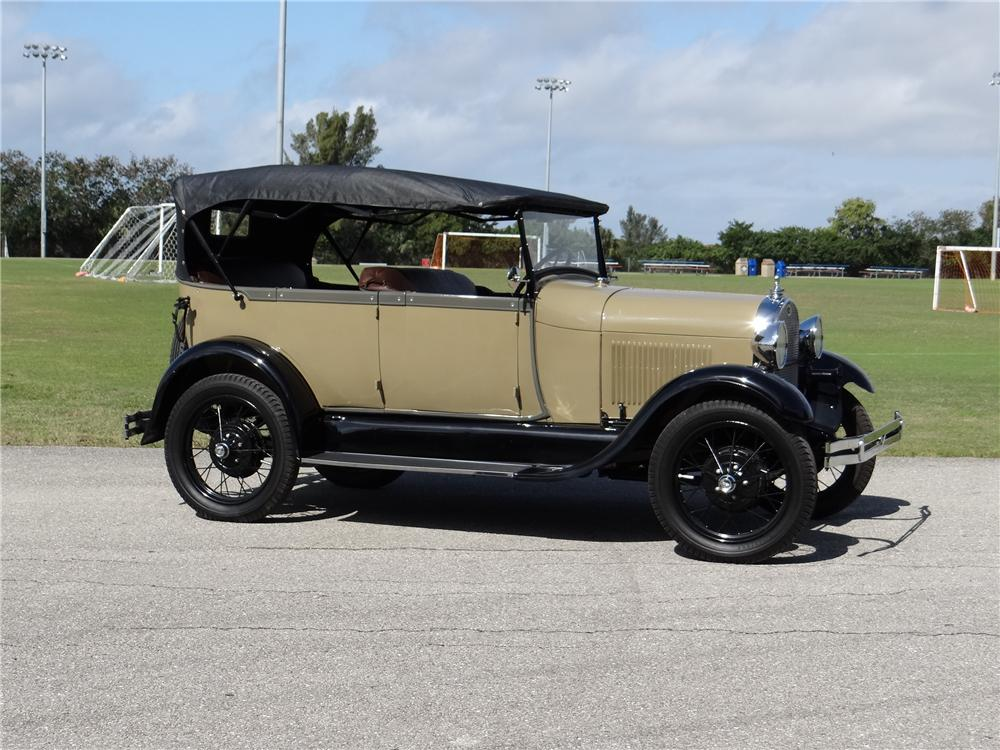 1928 FORD MODEL A 4 DOOR PHAETON - Side Profile - 170332