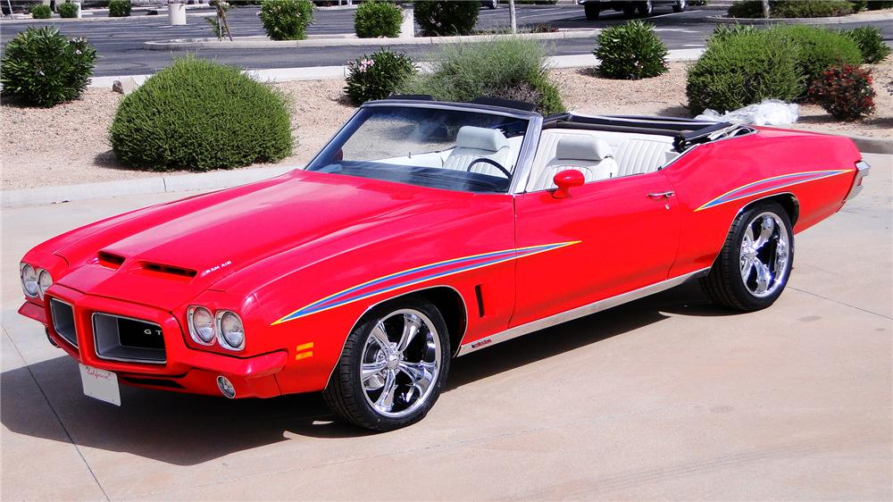 1972 PONTIAC LEMANS CUSTOM CONVERTIBLE - Front 3/4 - 170360