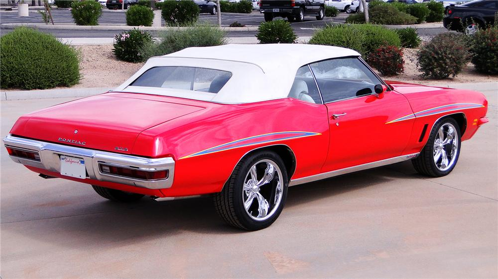 1972 PONTIAC LEMANS CUSTOM CONVERTIBLE - Rear 3/4 - 170360