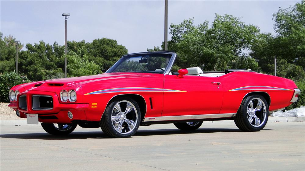 1972 PONTIAC LEMANS CUSTOM CONVERTIBLE - Side Profile - 170360