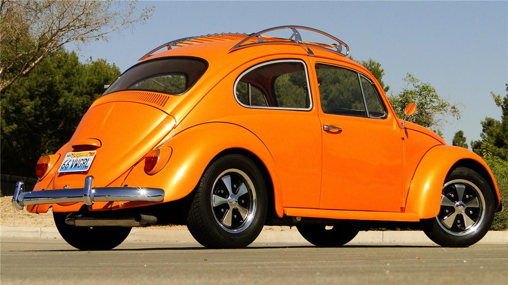 1966 VOLKSWAGEN BEETLE CUSTOM 2 DOOR SEDAN - Rear 3/4 - 170371