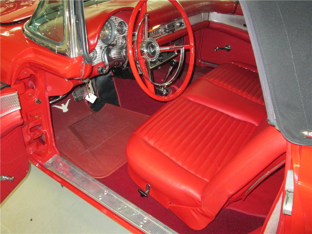 1957 FORD THUNDERBIRD CONVERTIBLE - Interior - 170388