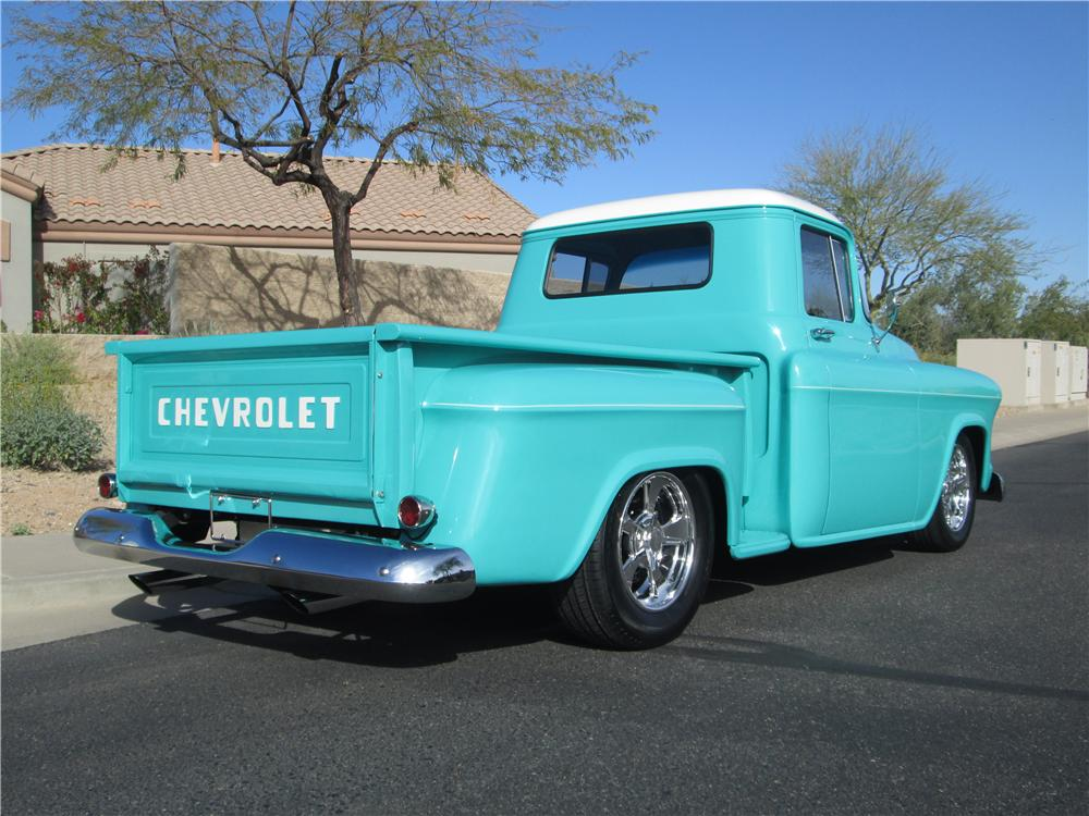 1957 CHEVROLET 3100 CUSTOM PICKUP - Rear 3/4 - 170389