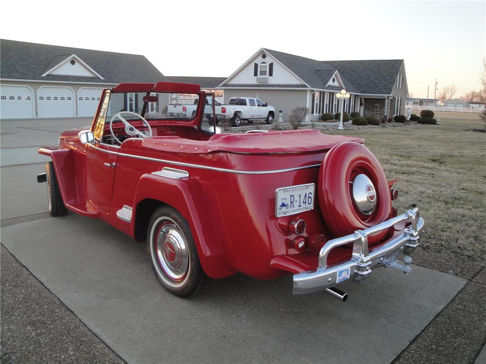 1948 WILLYS JEEPSTER CONVERTIBLE - Rear 3/4 - 170394