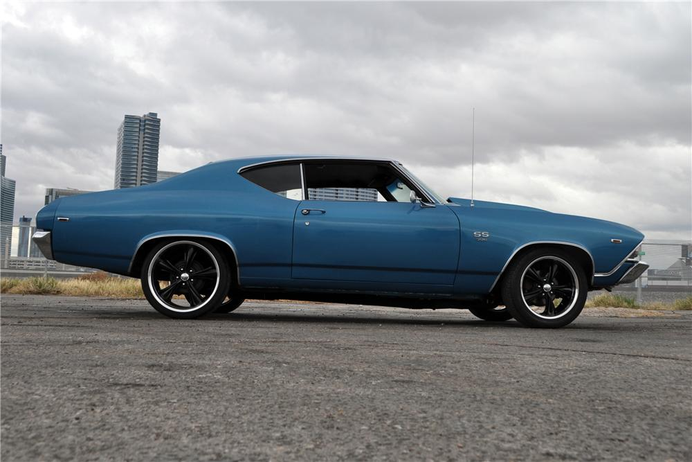 1969 CHEVROLET CHEVELLE SS 454 CUSTOM 2 DOOR HARDTOP - Side Profile - 170417