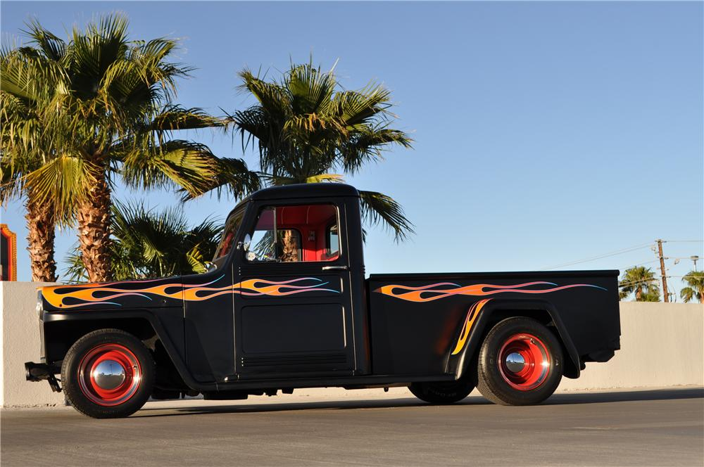 1948 WILLYS CUSTOM PICKUP - Side Profile - 170419
