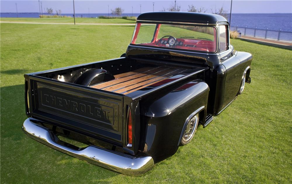 1956 CHEVROLET 3100 CUSTOM PICKUP - Rear 3/4 - 170425