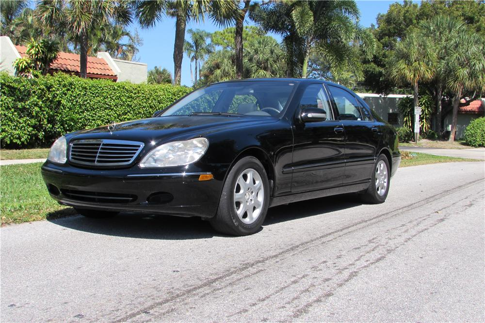 2001 MERCEDES BENZ S430 4 DOOR SEDAN   Front 3/4   170442 ...