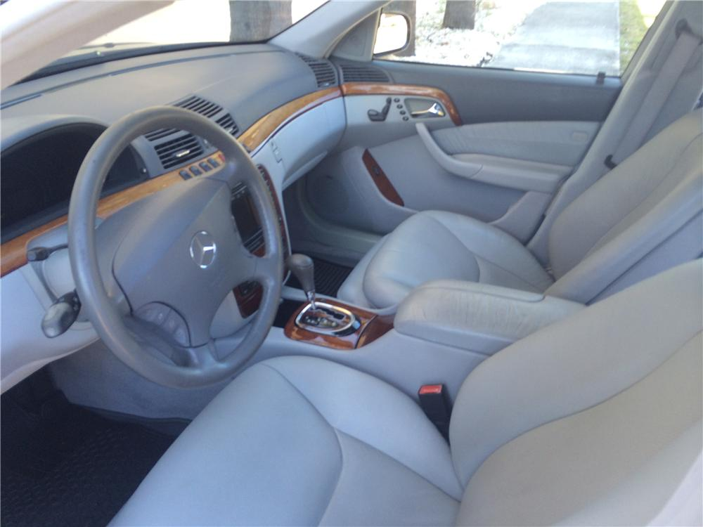 ... 2001 MERCEDES BENZ S430 4 DOOR SEDAN   Interior   170442 ...