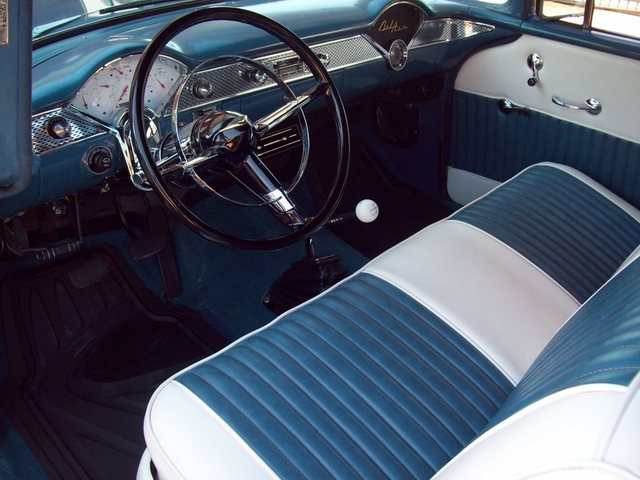 1955 CHEVROLET BEL AIR CUSTOM 2 DOOR POST - Interior - 170458