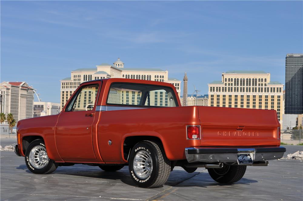 1978 CHEVROLET C-10 CUSTOM PICKUP - Rear 3/4 - 170471