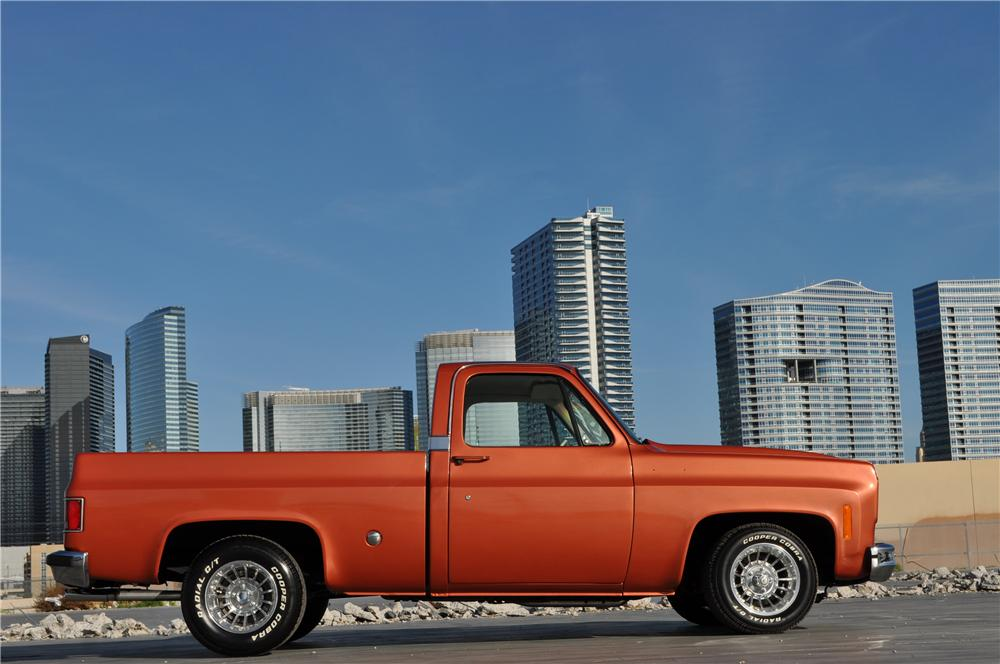 1978 CHEVROLET C-10 CUSTOM PICKUP - Side Profile - 170471