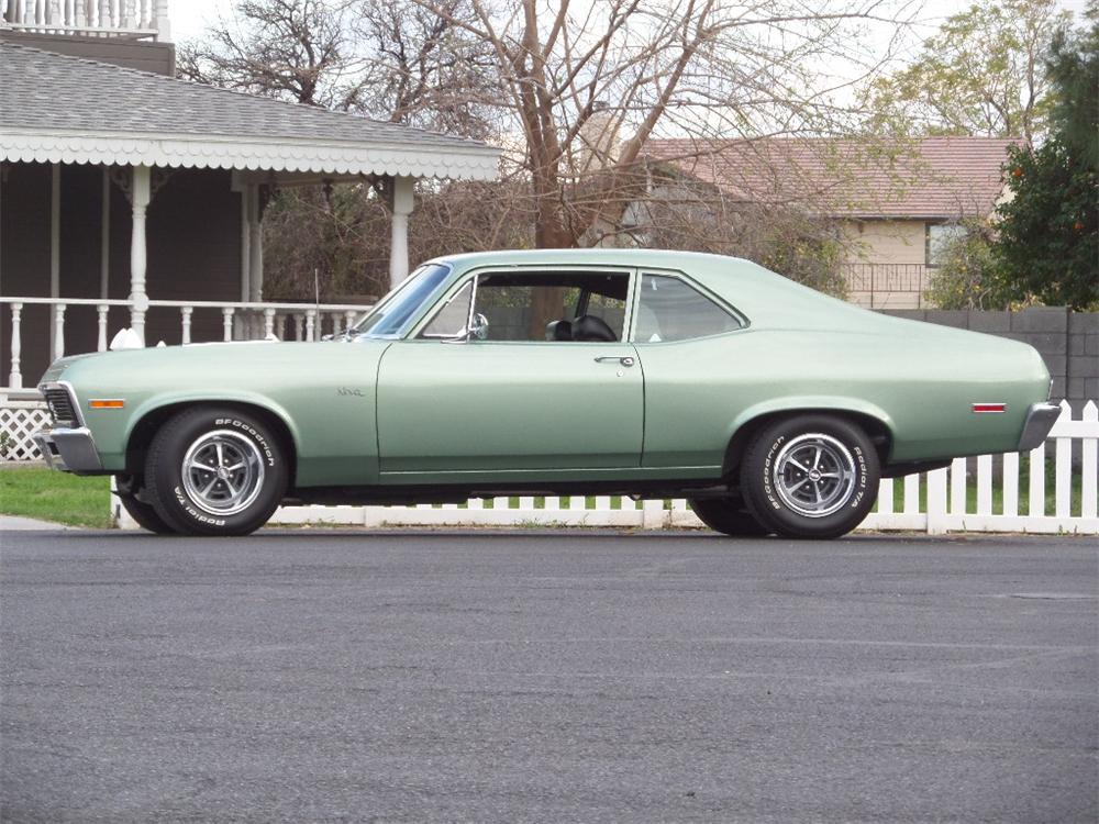 1972 CHEVROLET NOVA SS 2 DOOR COUPE - Side Profile - 170482