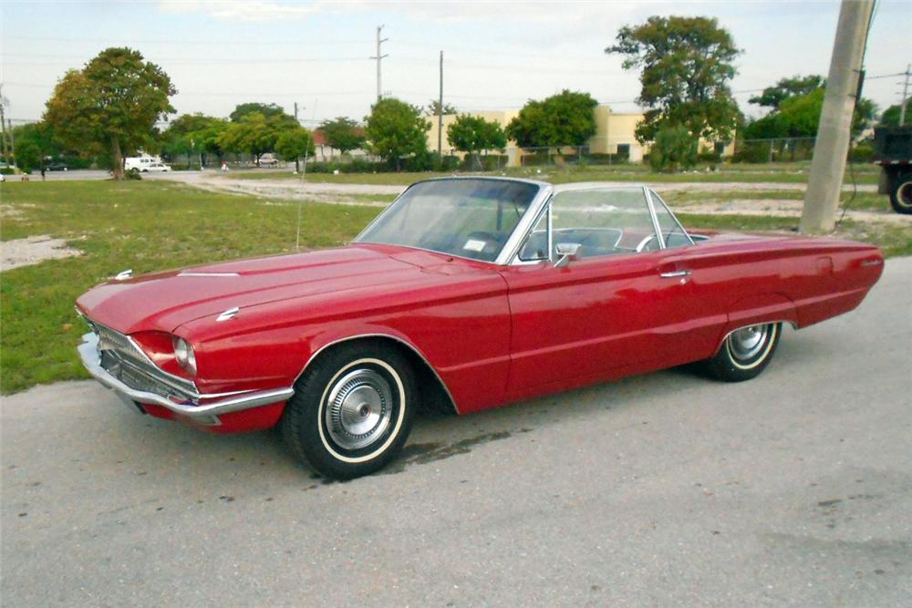 1966 FORD THUNDERBIRD CONVERTIBLE - Front 3/4 - 170484