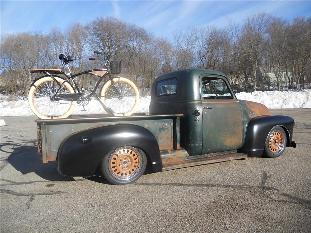 1950 CHEVROLET 3100 CUSTOM PICKUP - Side Profile - 170486